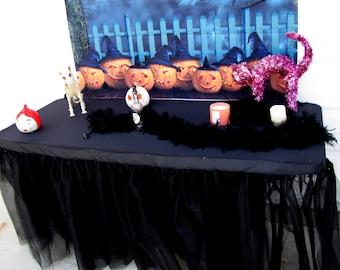 Halloween banquet party table Tulle Tutu Table Skirt Wedding Graduation Birthday  ballerina-inspired parties bridal quinceañeras + COLORS