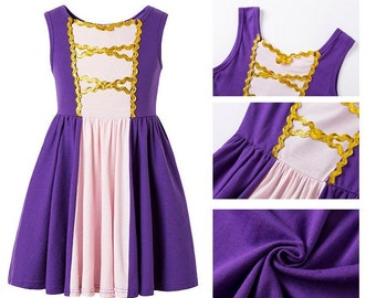 Child and Adult  Rapunzel Halloween costume inspired  dress family matching