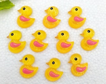 15 pcs duck Cute party favor flatback  charm cabochons For Hair Bow Centers DIY Scrapbooking Decor Crafts charms slime baby shower