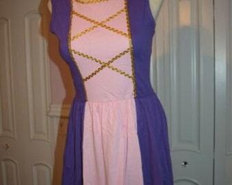 Adult women teen Rapunzel Halloween costume inspired  dress S M XL