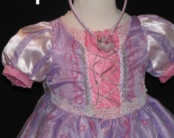 RAPUNZEL Inspired Costume Birthday girl toddler princess dress size 2 4 6