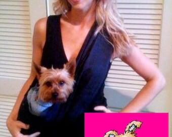 Little Rubi Pet carrier sling for dogs cats tote bag purse wear your pet Black size xxs-4xlarge