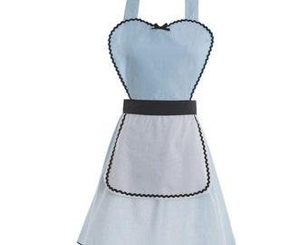 women Alice Halloween costume inspired apron  dress teen adult