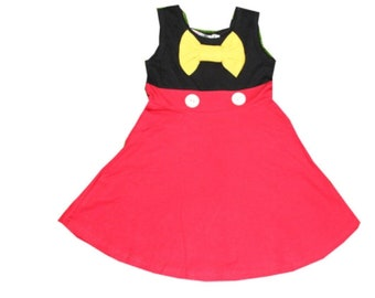 Adult women teen Mickey Halloween costume inspired  dress S M L XL