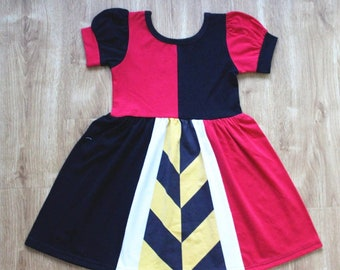 child princess queen of hearts Halloween costume inspired  dress 2 - 7 yrs
