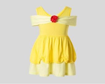Adult women princess Belle Beauty Halloween costume inspired  dress