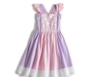 child Rapunzel Halloween costume inspired  dress 2 - 8 yrs