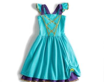 child Jasmin Halloween costume inspired  dress 2 - 8 yrs