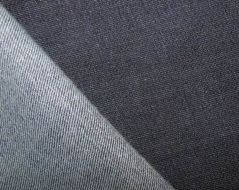 stretch blue denim  woven textile medium weight by the yard spandex 13oz