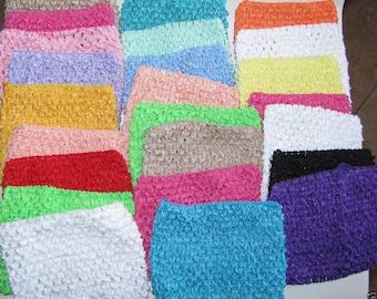 "new Girls 9""  Crochet tutu top tube  many  color you choose  for tutu dress headband size 2-4 years"