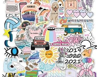 10 piece RANDOM  Vsco INS Style Sticker Anime for Laptop Case Car Skateboard Motorcycle Girl for Kids Children Toys Cool Animal Sticker