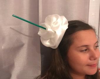 Starbucks hair accessory food Halloween costume coffee hair piece whip cream cherry on top