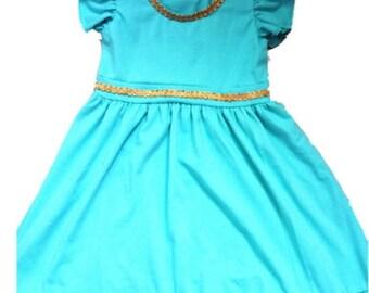 child Jasmin Halloween costume inspired  dress 7- 8 yrs