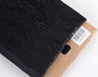New black lace fabric material 10 yards bolt