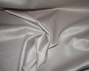 """matte beige Satin fabric 55"""" wide bridal wedding dress crafts home decor Charmeuse medium weight costume sew bolt by the yard"""