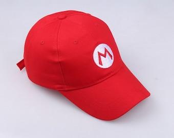 Super Mario Luigi Hat Cap Mario Bros Cosplay Snapback Baseball  Costume Halloween Party Kids Adult Prop birthday