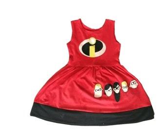 Superhero  Halloween costume Incredibles inspired  dress