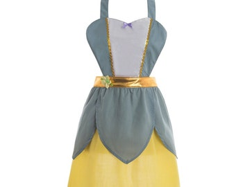 women Tiana Halloween costume inspired apron  dress teen adult