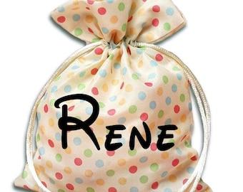 "mini Sack Personalized Bag Drawstring Easter Birthday Size 5x7"" gift goodie bag"
