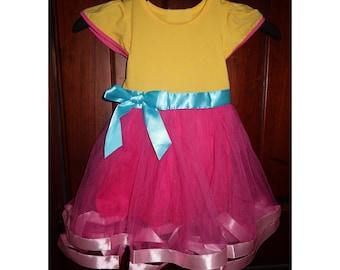 child fancy nancy Halloween costume inspired  dress 2 - 8 yrs