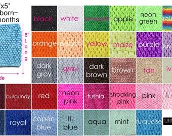 "new Girls 8X5""  Crochet tutu top tube for Baby many  color you choose  for tutu dress headband"