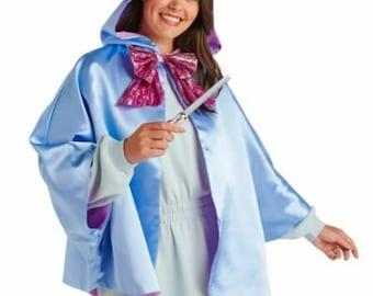 DISNEY cape & wand fairy God mother Costume Women FREE SHIPPING