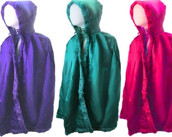 Sanderson Sisters Costumes Capes (Hocus Pocus Witches) Halloween child