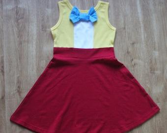 child princess  Tweedle Dee Halloween costume inspired  dress 2 - 8 yrs