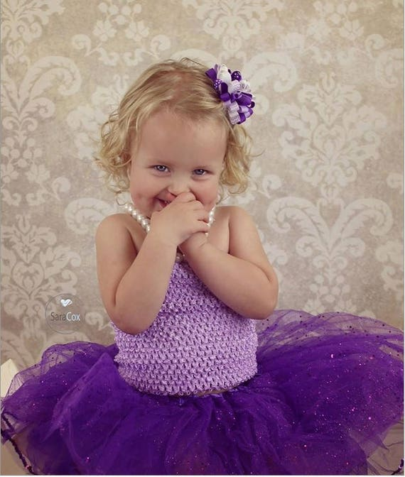 New Girls Girl Baby Child 7 Inch Lined Crochet Tutu Top Tube Etsy