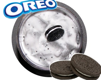 cookies and cream oreo inspired slime party favor  1 cookie charm included scented