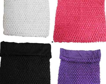 """Sale new Girls  7""""  lined Crochet tutu top tube many  color you choose  for tutu dress  baby toddler size 1-3"""