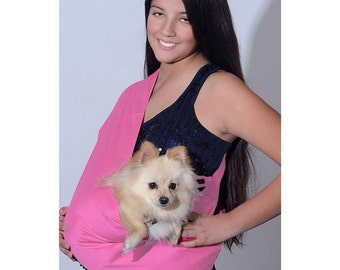 Little Rubi Pet carrier sling for dogs cats tote bag purse light pink cotton