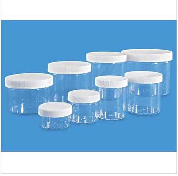 78c4708387ee 1 2 3 4 6 8 12 oz clear slime jars containers party favors gifts FREE  shipping (slime is not included)