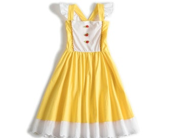 child princess Beauty Halloween costume inspired  dress 2 - 8 yrs