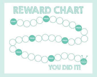 Reward Chart Printable / Caterpillar Chart / Behavior Chart  /  INSTANT DOWNLOAD / Gender Neutral
