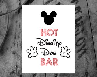 picture regarding Hot Diggity Dog Bar Free Printable identify Mickey Mouse Bash Artwork / Immediate Down load / Meeska Mooska Etsy