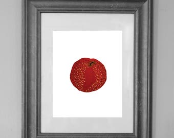 Apple Painting Print / Kitchen Printable / Fruit Art / Wall Art Decor / INSTANT DOWNLOAD