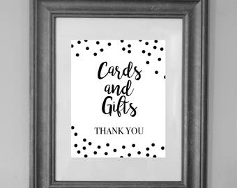 Cards and Gifts Sign / Printable Sign / Wedding and Party Decor / INSTANT DOWNLOAD