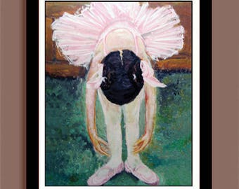Ballerina Painting / Take A Bow / INSTANT DOWNLOAD / Girls Room / Wall Decor Art