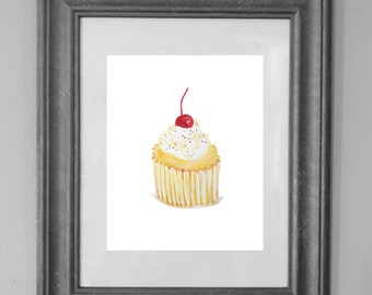 Cupcake Painting Printable / Bakery Sign / Kitchen Decor / Bedroom Decor / Wall Art Decor / INSTANT DOWNLOAD