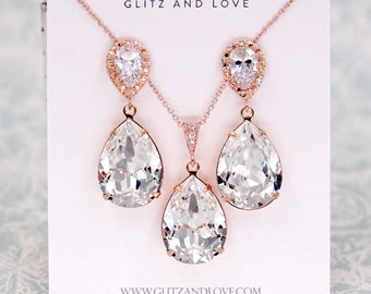 Sandra- Crystal Teardrop Earrings, Bridesmaid Earrings, Bridal Jewelry, Wedding Jewelry, Clear White Swarovski Crystal Drops E001 N005