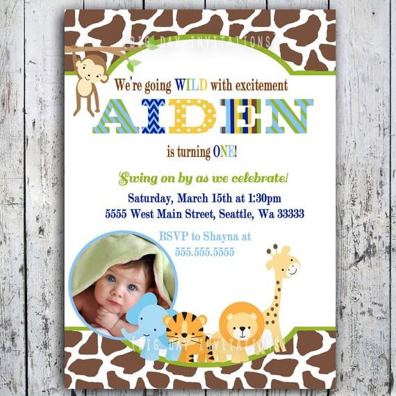 safari birthday invitations jungle animal theme printable etsy