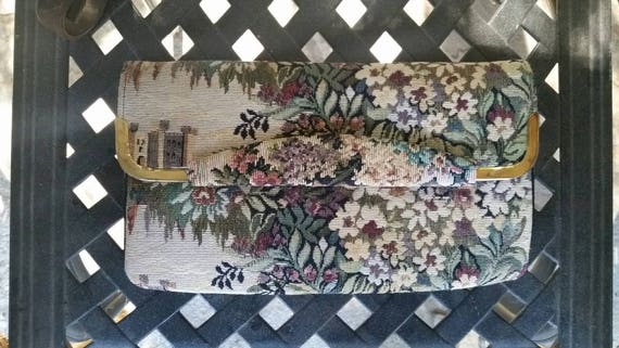 Tapestry Purse Tapestry Clutch Tapestry Covertible
