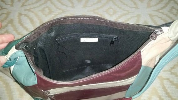 Patchwork Purse Patchwork Hobo Purse Leather Patc… - image 5