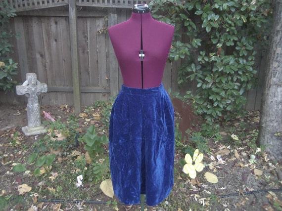 Crushed Velvet Skirt Velvet Skirt Blue Velvet Skir