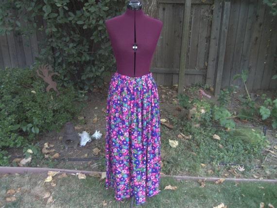 Mod Maxi Skirt Floral Maxi Skirt Mod Skirt Psyche… - image 2