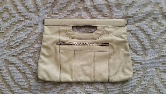 Leather Handbag Vintage Leather Handbag 1970s Leat