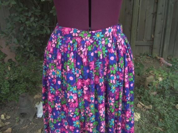 Mod Maxi Skirt Floral Maxi Skirt Mod Skirt Psyche… - image 1
