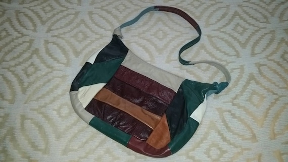 Patchwork Purse Patchwork Hobo Purse Leather Patch