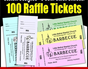 100 card stock custom raffle tickets preforated stub numbered on two ends no booking no booking